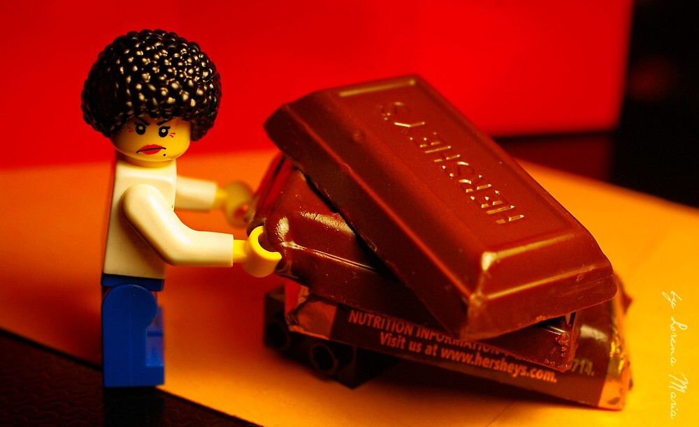 Stay away from my chocolate... by Lorena María