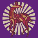 swirly deer by stean11