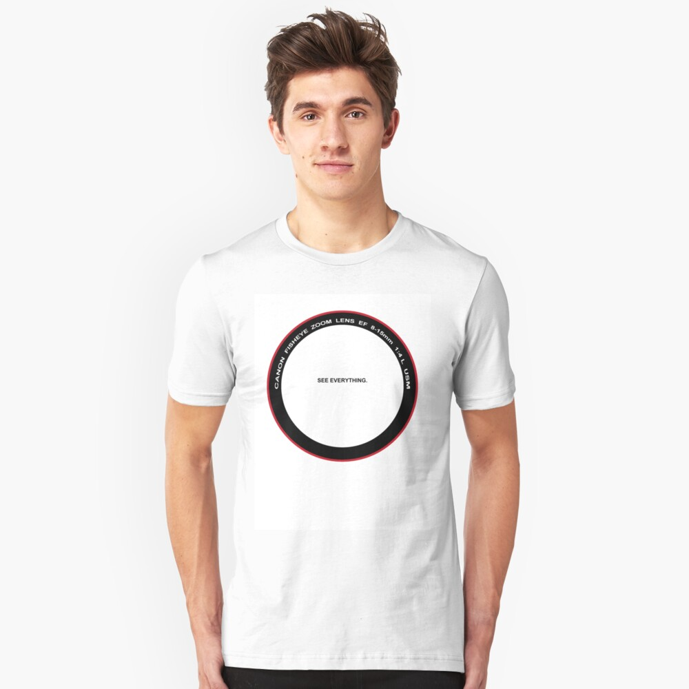 WEAR YOUR PASSION: Fisheye Unisex T-Shirt Front