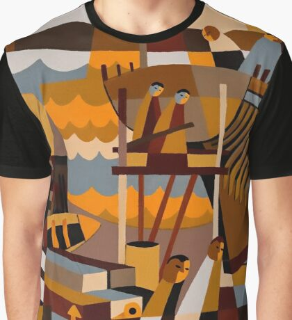 BATTERY POINT SHIP BUILDERS 1835 Graphic T-Shirt