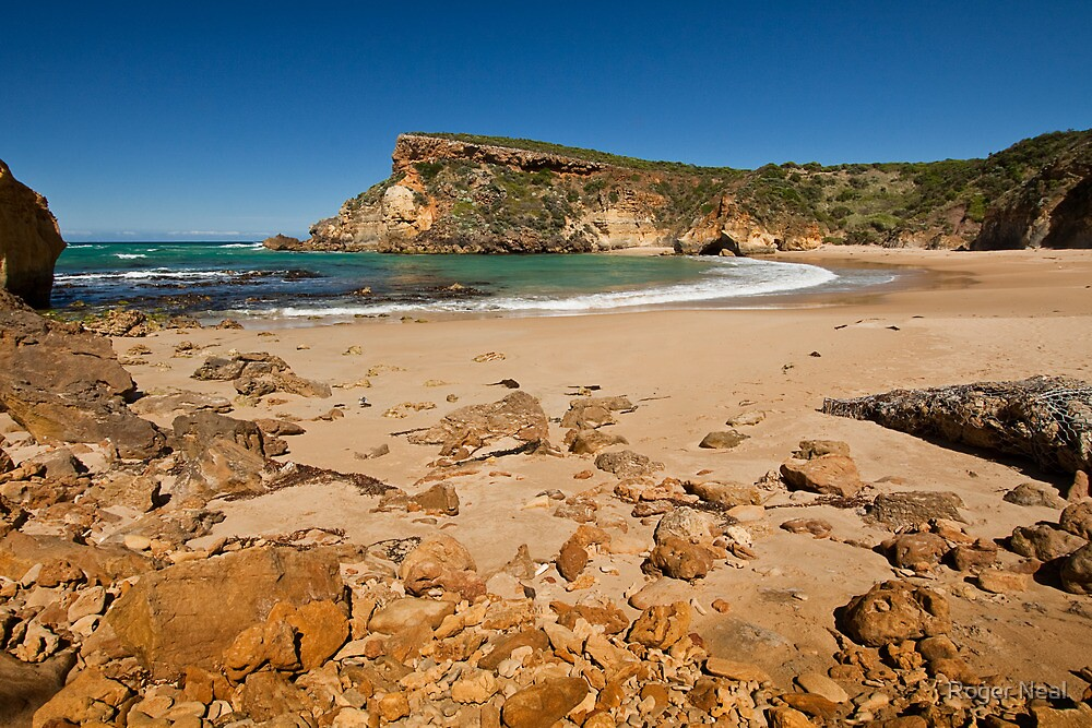 Low tide on the beach at Childers Cove, Victoria, Australia by Roger Neal