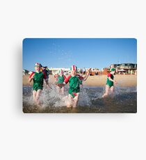 Run to the water Canvas Print