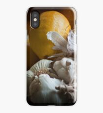 Lemons and Garlic Still Life iPhone Case/Skin