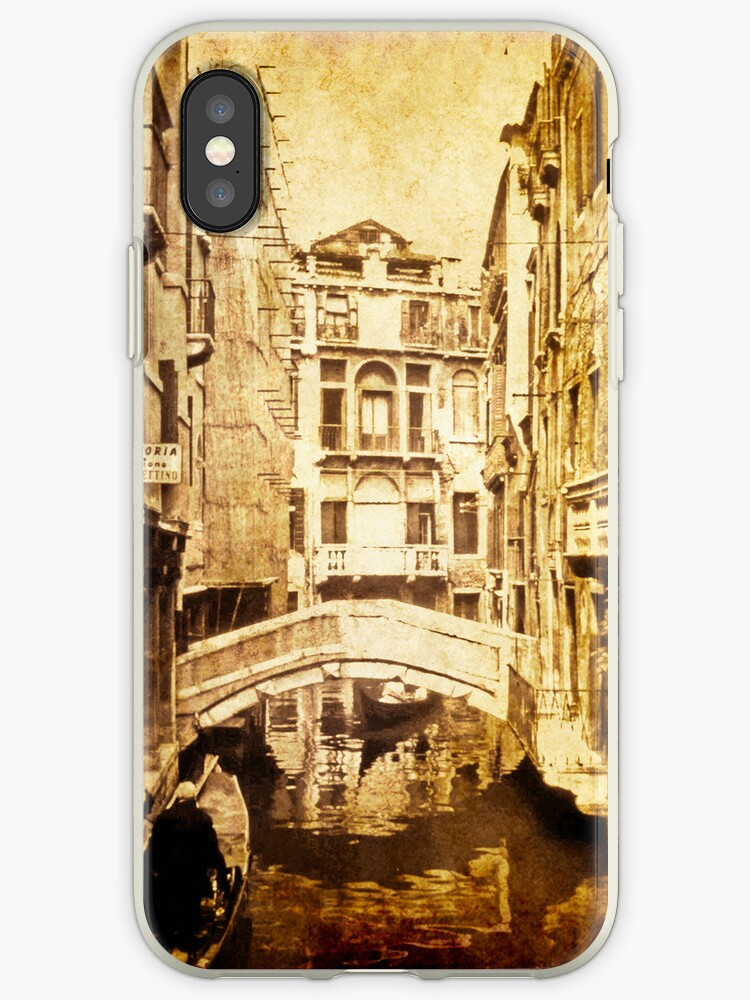 Vintage Venice Canal i Phone Cover by pennyswork
