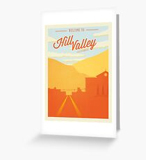 Back to the Future - Welcome To Hill Valley  Greeting Card