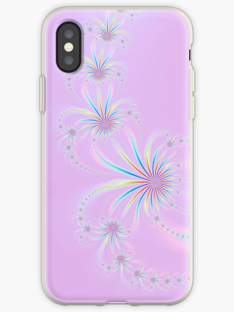 Fractal Fireworks on Pink by Objowl