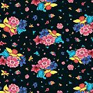 Dark Floral Pattern by James McKenzie