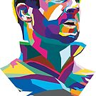 Eric Cantona Colour Portrait by davechaps