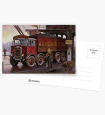 Hudsons' coal AEC tipper. Postcards
