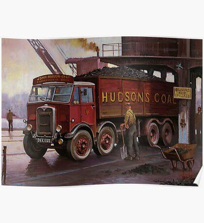 Hudsons' coal AEC tipper. Poster
