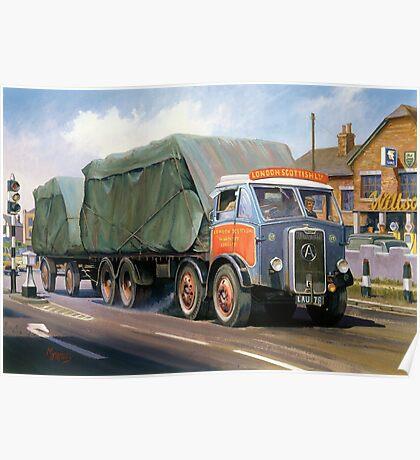 Atkinson eight-wheeler and drag. Poster