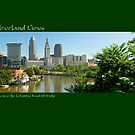 View of Cleveland near the Columbus Rosd Lift Bridge by Bob Perkoski