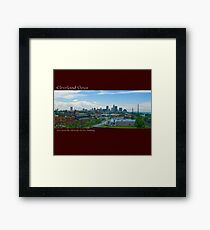 View of Cleveland from the old Neff Electric Building Framed Print