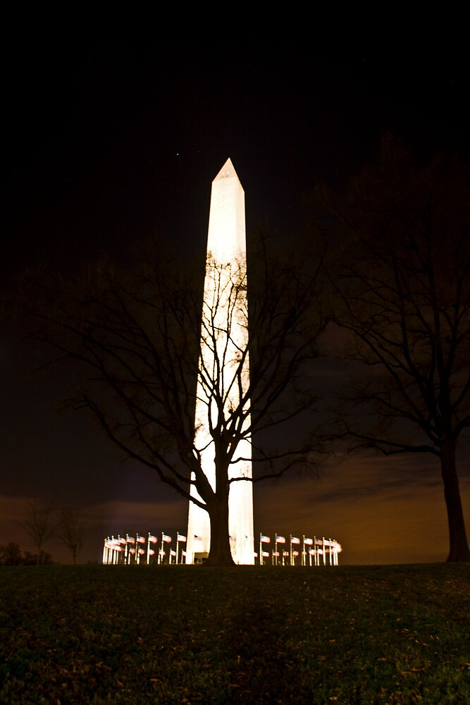 Washington Monument Night by CraMation
