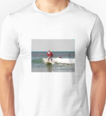 Surfing Santa SUP Unisex T-Shirt