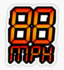 NOW IS THE FUTURE - 88 mph Sticker