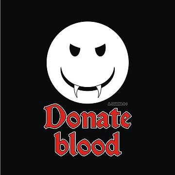 Donate Blood - Vampire Smiley by alexcuadra