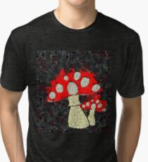 Fruit & Veg - Toadstools Waiting for a Fairy Tri-blend T-Shirt