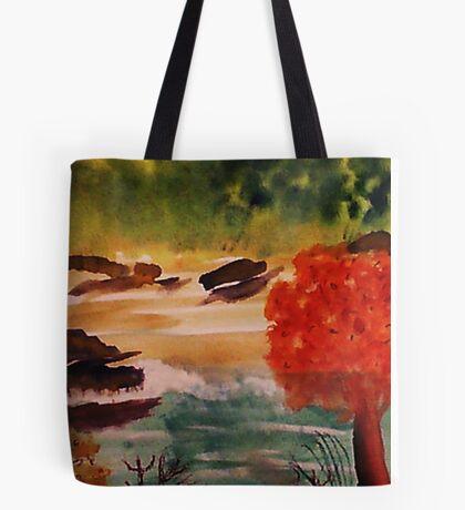 Catfishing pond #2, watercolor Tote Bag