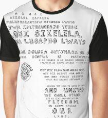 Mzansi 2010 - Nkosi Sikelel' iAfrika (black)  Graphic T-Shirt