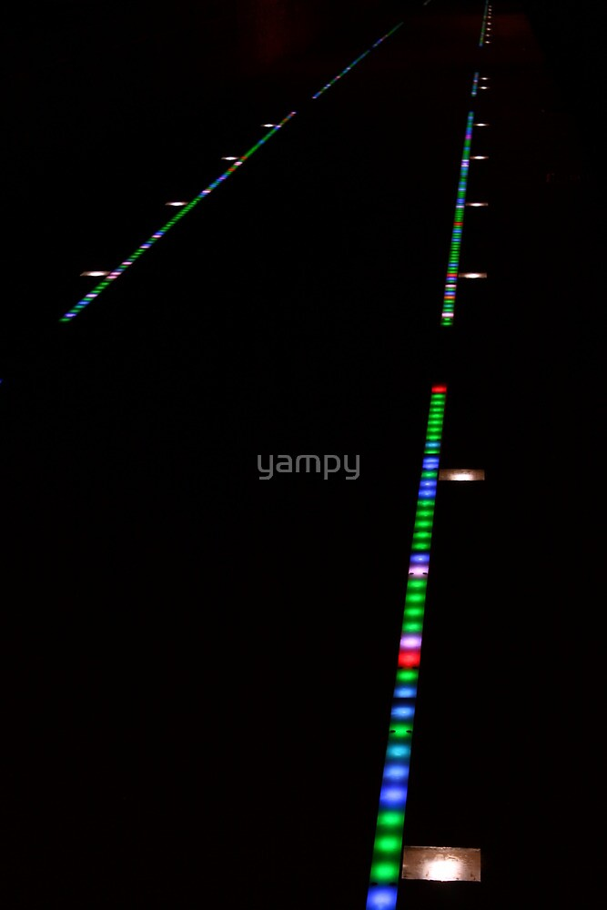 Tram lines in the night by yampy
