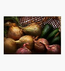 Food - Vegetables - Onions and Peppers Photographic Print