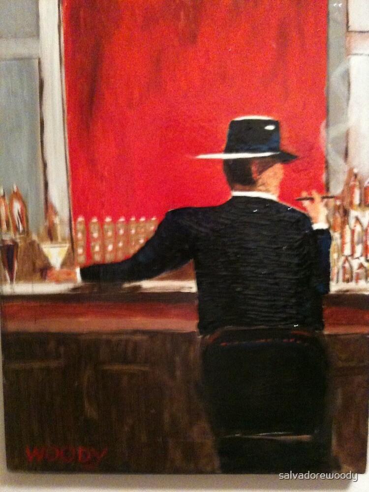 A man at a bar  by salvadorewoody