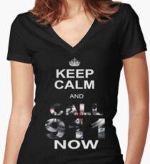 SKRILLEX! NOW! Women's Fitted V-Neck T-Shirt