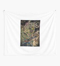 Japanese dragon and koi fish  Wall Tapestry