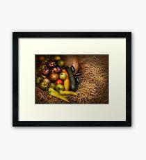Food - Vegetables - Very early harvest Framed Print