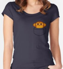 Pocket monkey is highly suspicious Women's Fitted Scoop T-Shirt