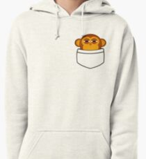Pocket monkey is highly suspicious Pullover Hoodie
