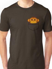 Pocket monkey is highly suspicious Unisex T-Shirt