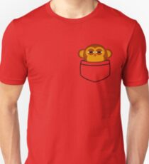 Camiseta ajustada El mono de bolsillo es muy sospechoso