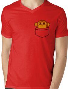 Pocket monkey is highly suspicious Mens V-Neck T-Shirt