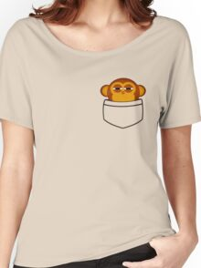 Pocket monkey is highly suspicious Women's Relaxed Fit T-Shirt