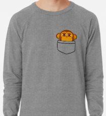 89b6ae819d7 Pocket monkey is highly suspicious Lightweight Sweatshirt