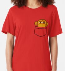 Pocket monkey is highly suspicious Slim Fit T-Shirt