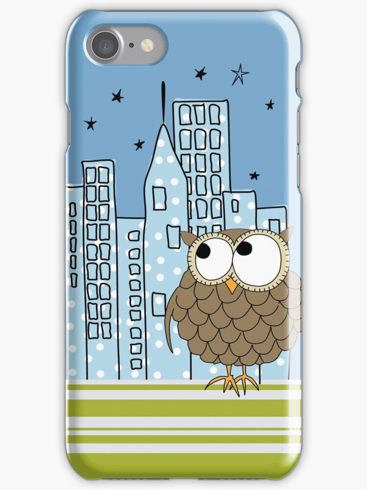 City Owl iPhone Case by David & Kristine Masterson