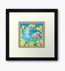 Exotic Encounters by Ro London - Menagerie Collection Framed Print