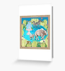 Exotic Encounters by Ro London - Menagerie Collection Greeting Card
