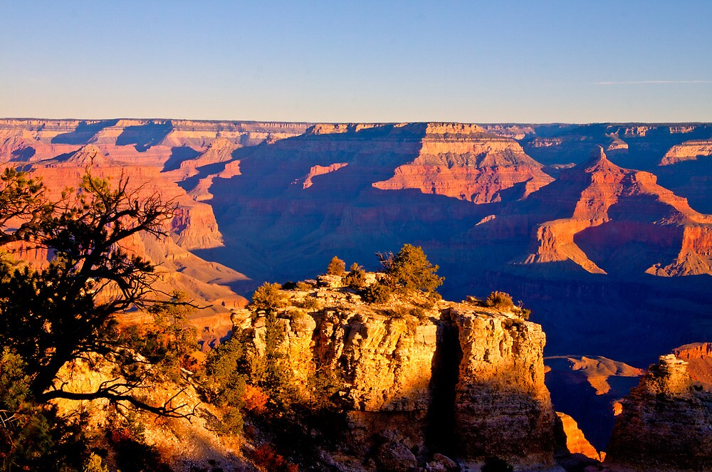 Grand Canyon;  South Rim at Sunrise2 by Marvin Mast