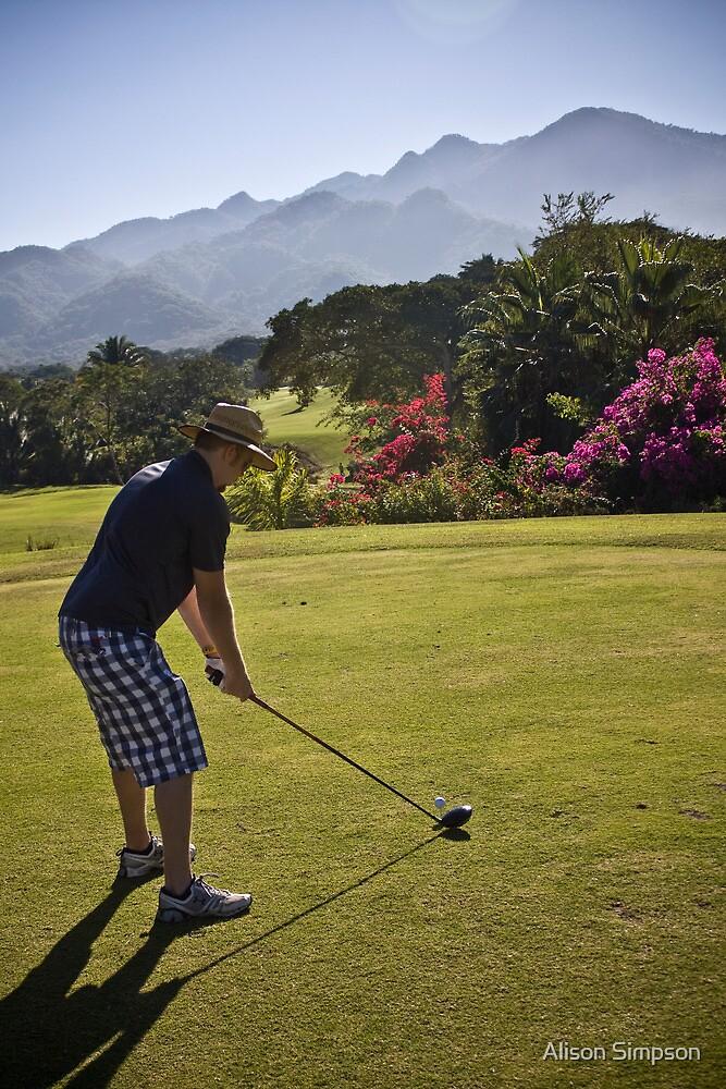 Golfing in Puerto Vallarta, Mexico by Alison Simpson