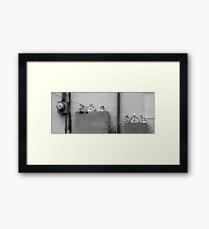 Urban Angles Framed Print