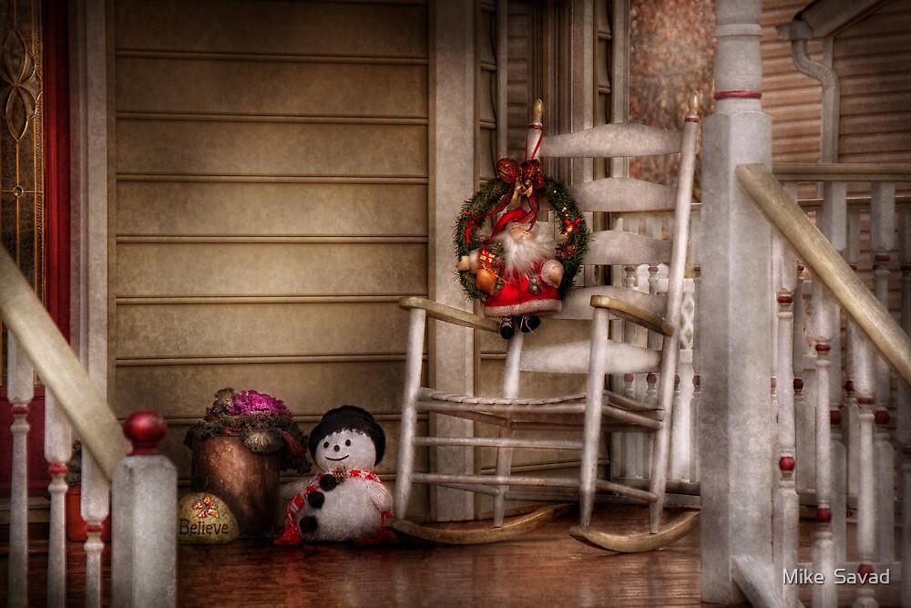 Winter - Metuchen, NJ - Waiting for Santa  by Michael Savad