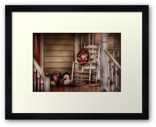 Winter - Metuchen, NJ - Waiting for Santa  by Mike  Savad