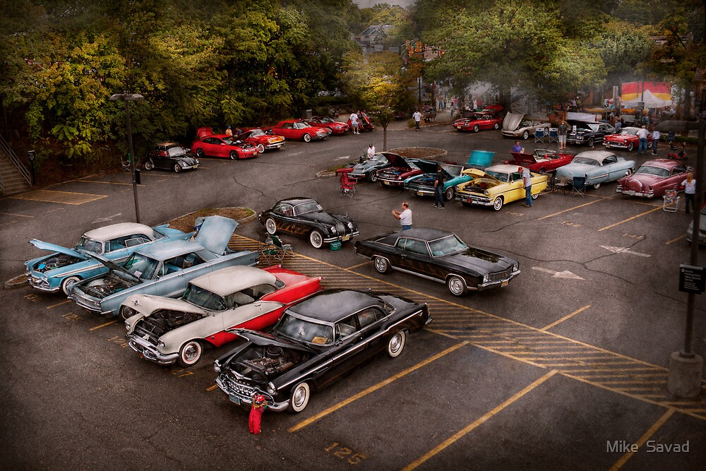Car - Antique car show  by Michael Savad