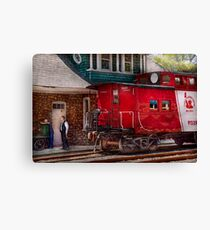 Train - Caboose - End of the line Canvas Print