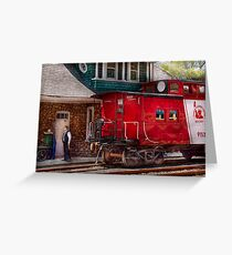 Train - Caboose - End of the line Greeting Card