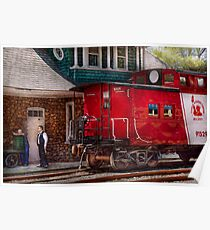 Train - Caboose - End of the line Poster